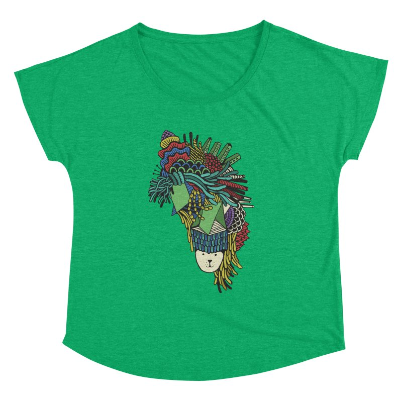 Colorful Vegetables Women's Dolman Scoop Neck by The Babybirds