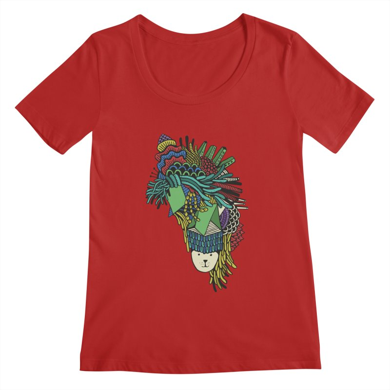 Colorful Vegetables Women's Scoopneck by The Babybirds