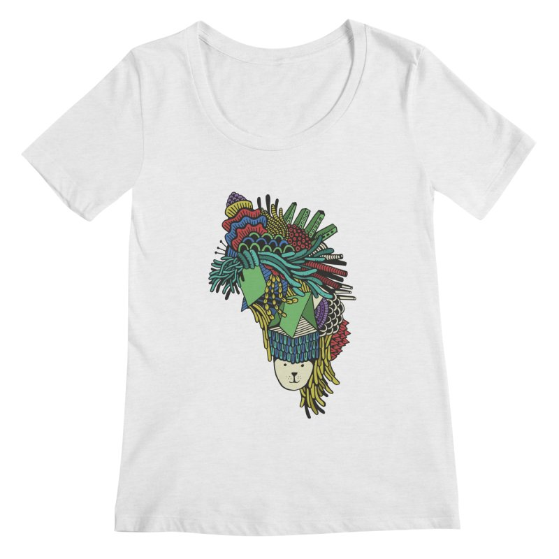 Colorful Vegetables Women's Regular Scoop Neck by The Babybirds