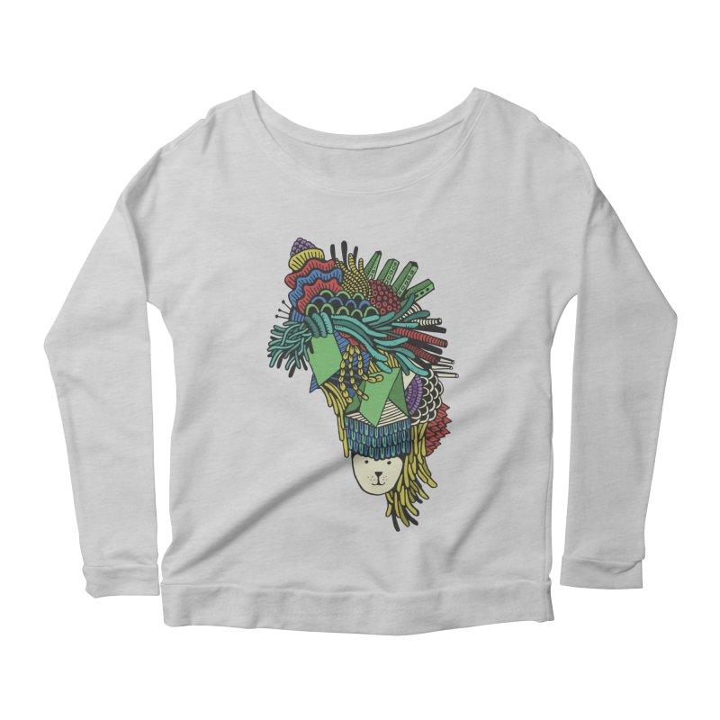 Colorful Vegetables Women's Longsleeve Scoopneck  by The Babybirds