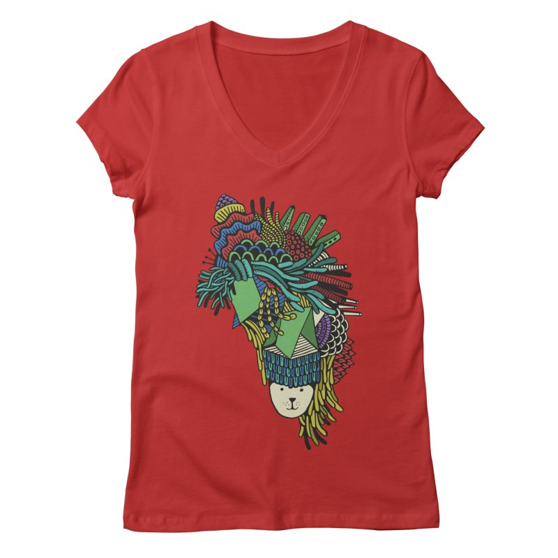 Colorful Vegetables Women's V-Neck by The Babybirds