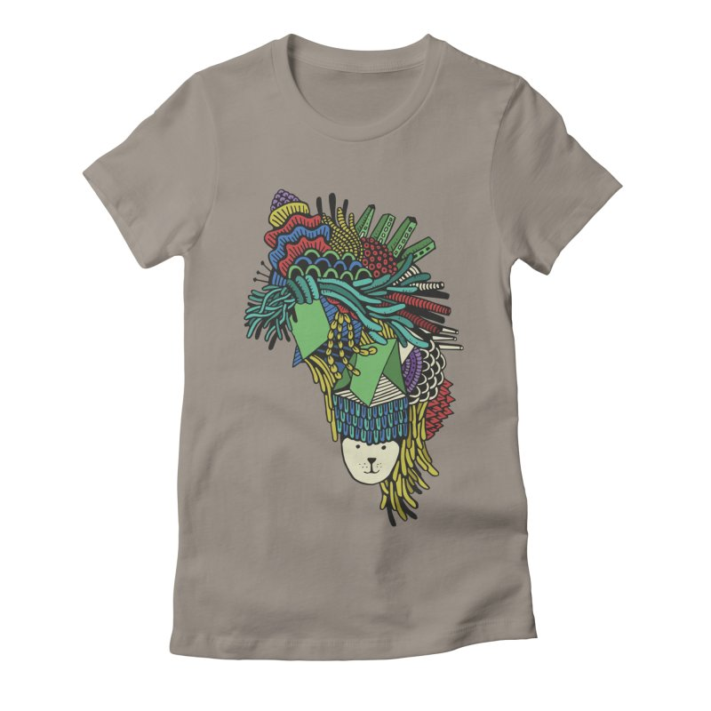 Colorful Vegetables Women's Fitted T-Shirt by The Babybirds