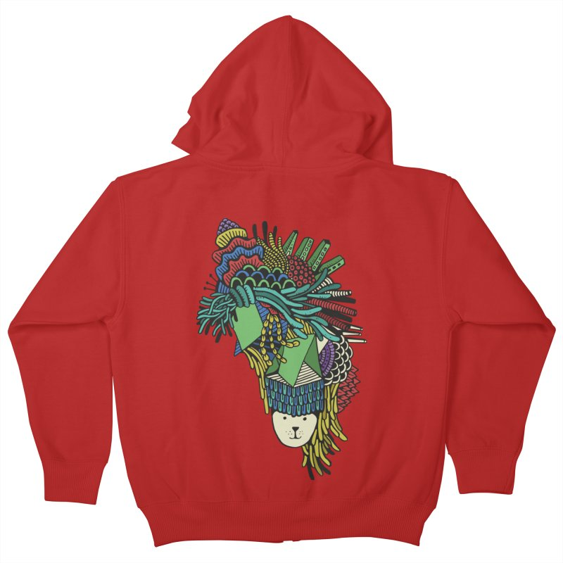 Colorful Vegetables Kids Zip-Up Hoody by The Babybirds