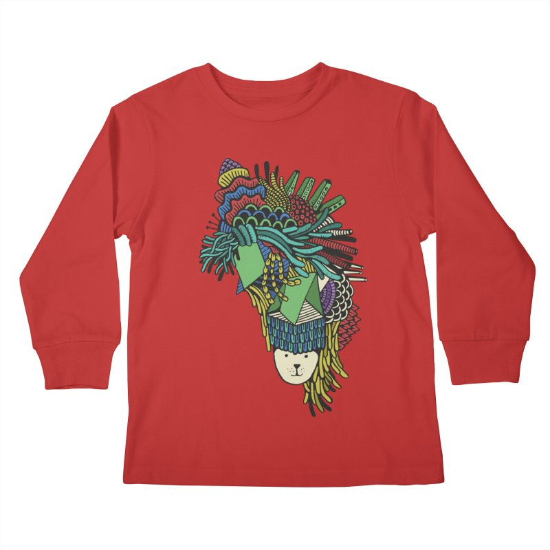 Colorful Vegetables Kids Longsleeve T-Shirt by The Babybirds