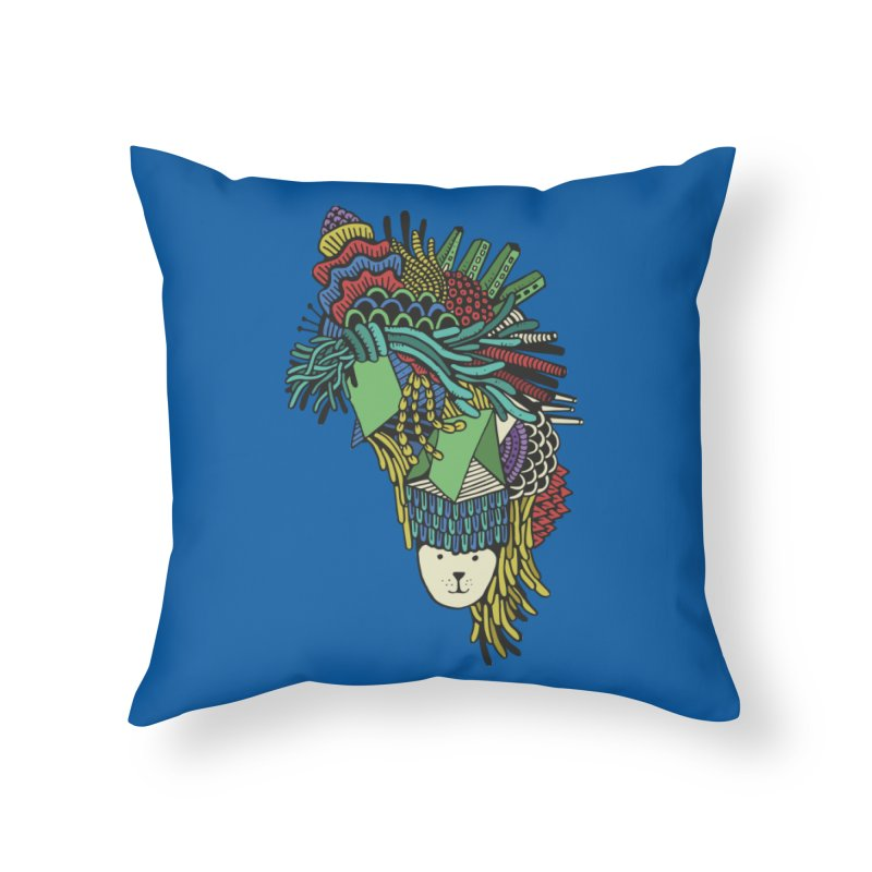 Colorful Vegetables Home Throw Pillow by The Babybirds