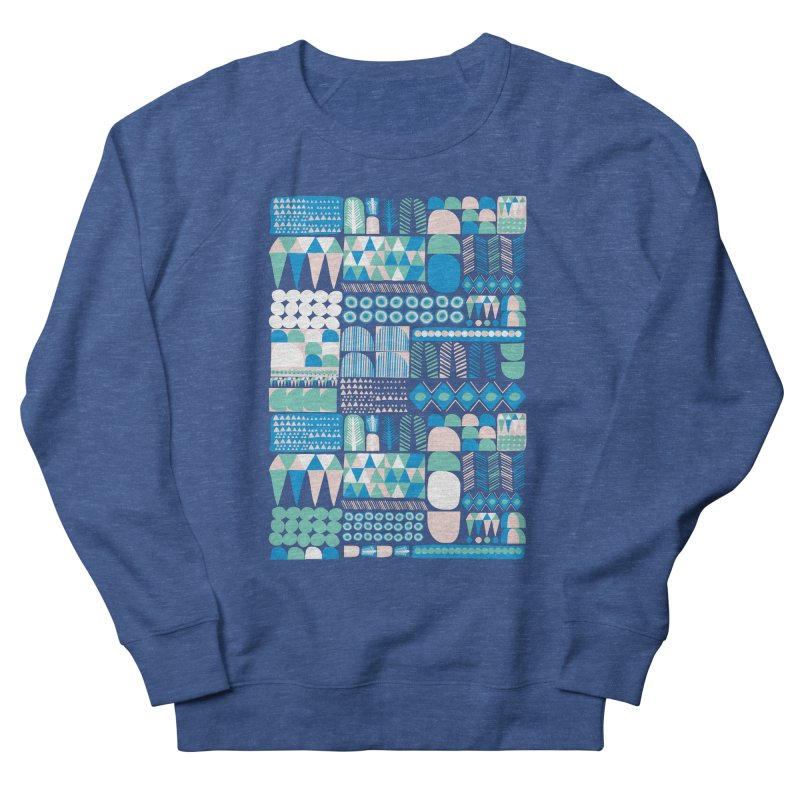 Blue Shapes & Lines Women's Sweatshirt by The Babybirds