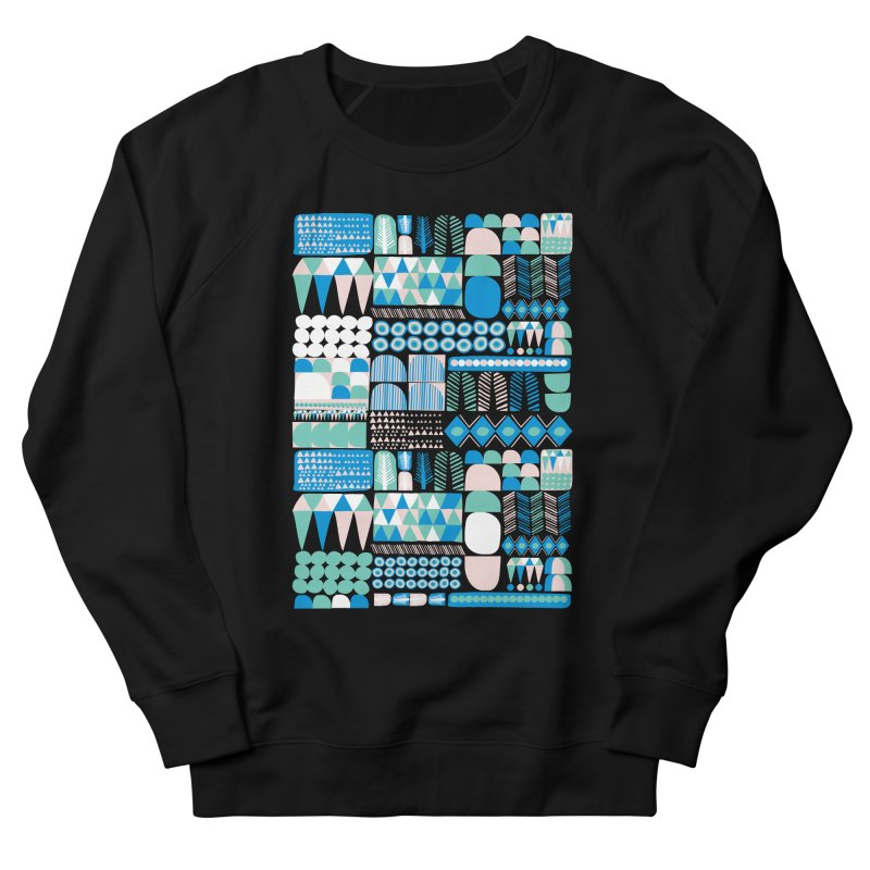 Blue Shapes & Lines Men's Sweatshirt by The Babybirds