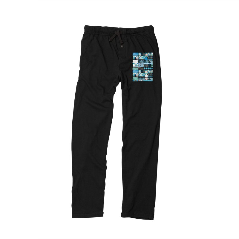 Blue Shapes & Lines Women's Lounge Pants by The Babybirds
