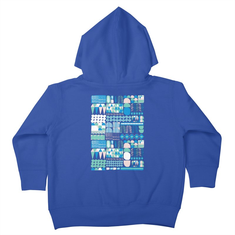Blue Shapes & Lines Kids Toddler Zip-Up Hoody by The Babybirds