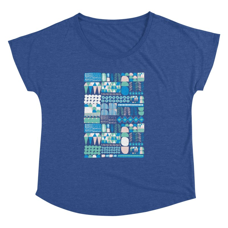 Blue Shapes & Lines Women's Dolman by The Babybirds