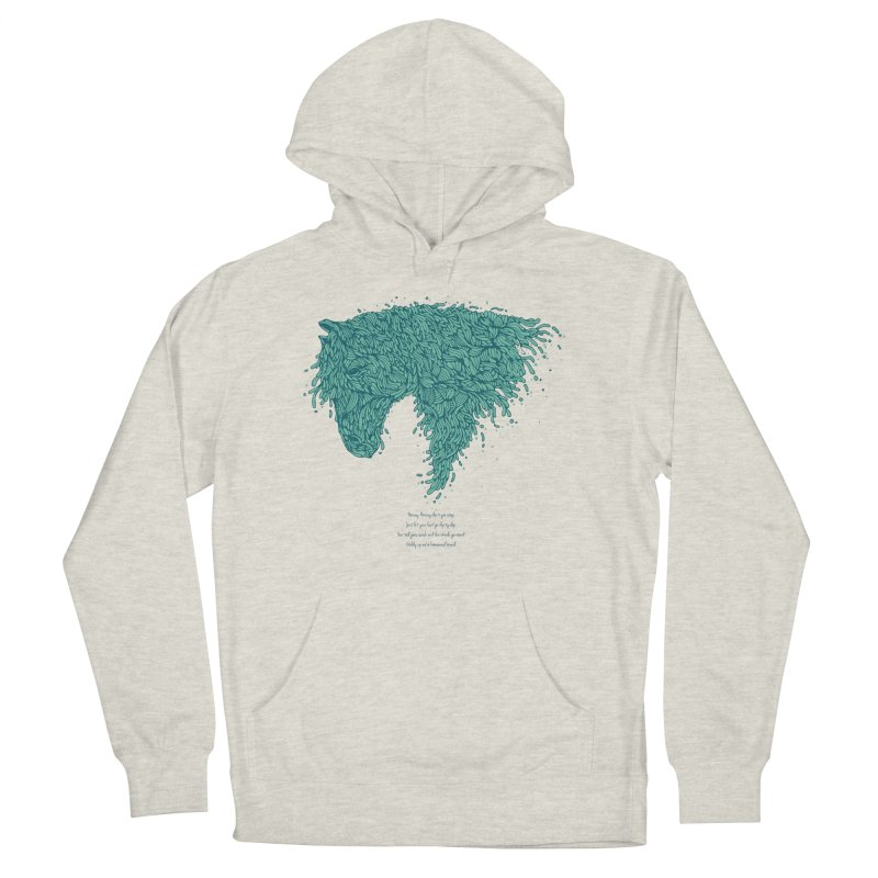 Horsey Men's French Terry Pullover Hoody by The Babybirds