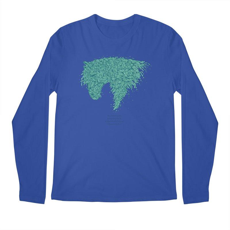 Horsey Men's Regular Longsleeve T-Shirt by The Babybirds