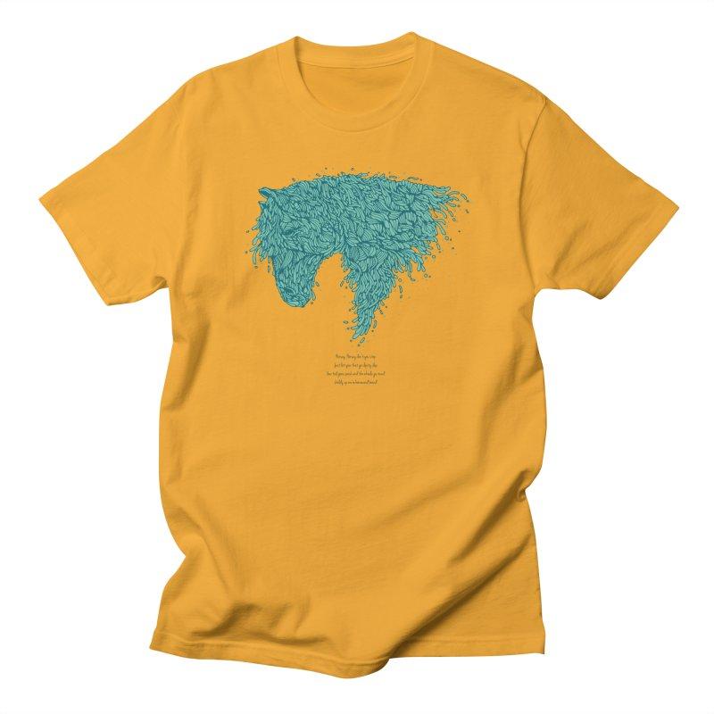 Horsey Men's Regular T-Shirt by The Babybirds