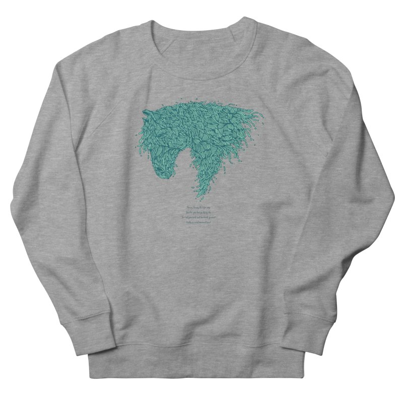 Horsey Women's French Terry Sweatshirt by The Babybirds