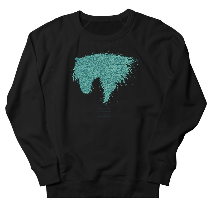 Horsey Men's French Terry Sweatshirt by The Babybirds