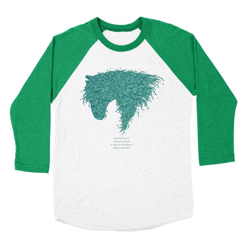 Horsey Women's Baseball Triblend T-Shirt by The Babybirds