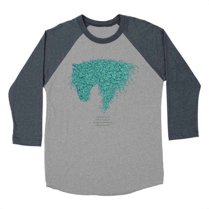 Horsey Men's Baseball Triblend Longsleeve T-Shirt by The Babybirds