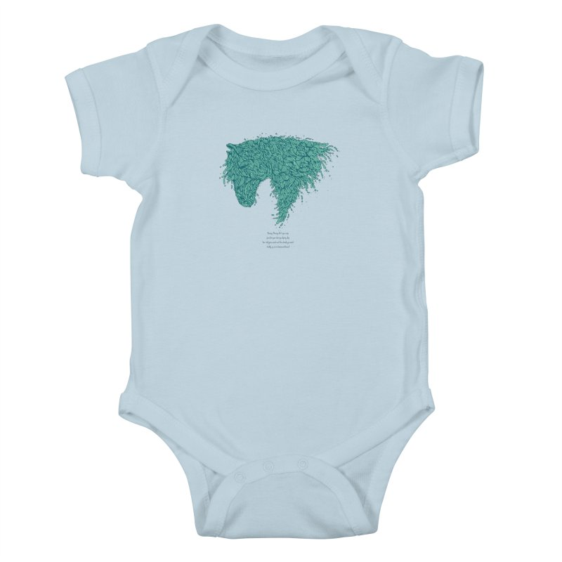 Horsey Kids Baby Bodysuit by The Babybirds