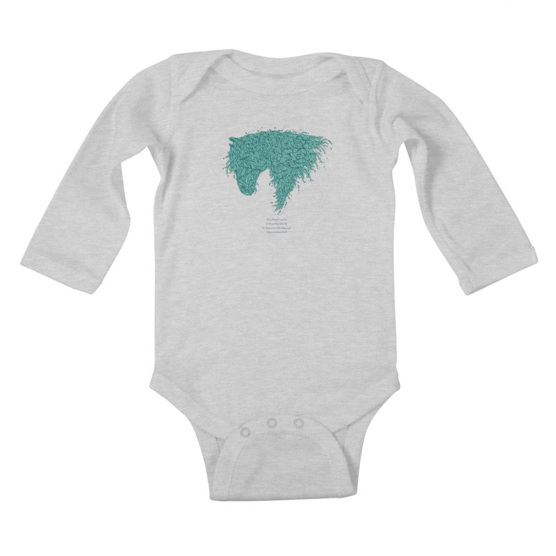 Horsey Kids Baby Longsleeve Bodysuit by The Babybirds