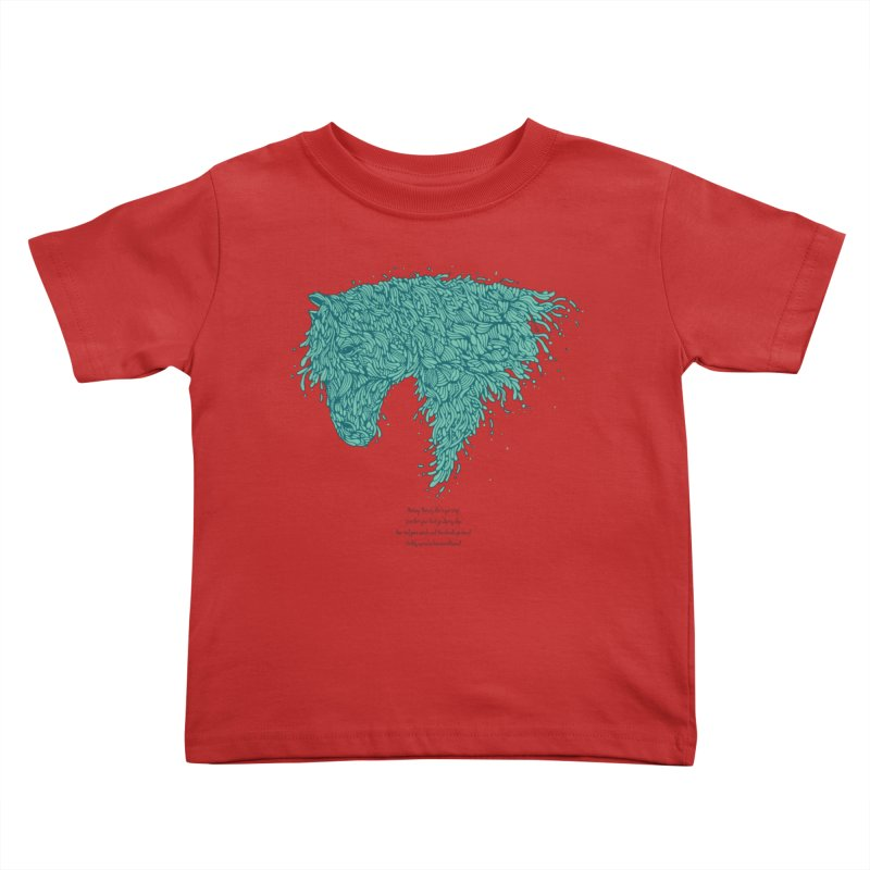 Horsey Kids Toddler T-Shirt by The Babybirds