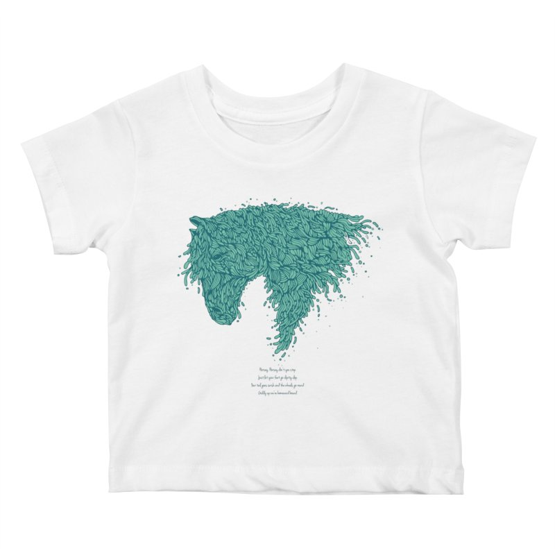 Horsey Kids Baby T-Shirt by The Babybirds