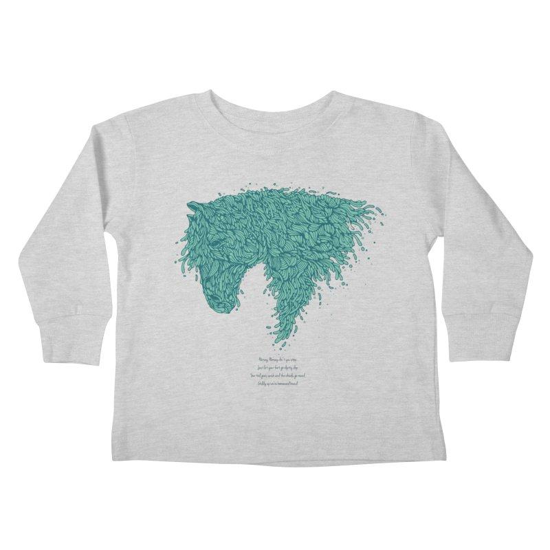 Horsey Kids Toddler Longsleeve T-Shirt by The Babybirds