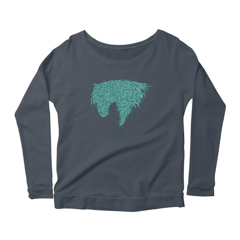 Horsey Women's Scoop Neck Longsleeve T-Shirt by The Babybirds