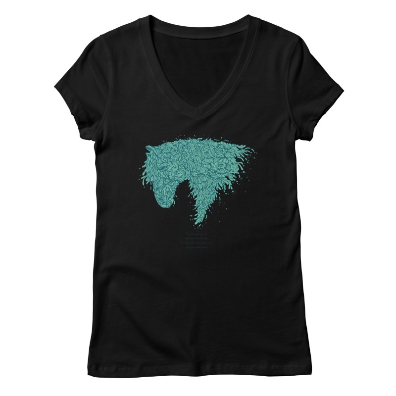Horsey Women's V-Neck by The Babybirds