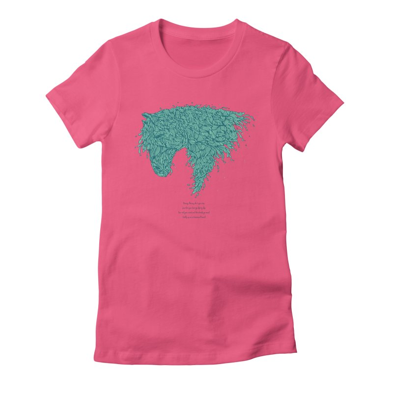 Horsey Women's Fitted T-Shirt by The Babybirds