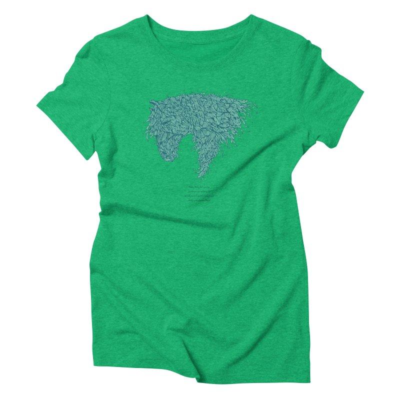 Horsey Women's Triblend T-shirt by The Babybirds