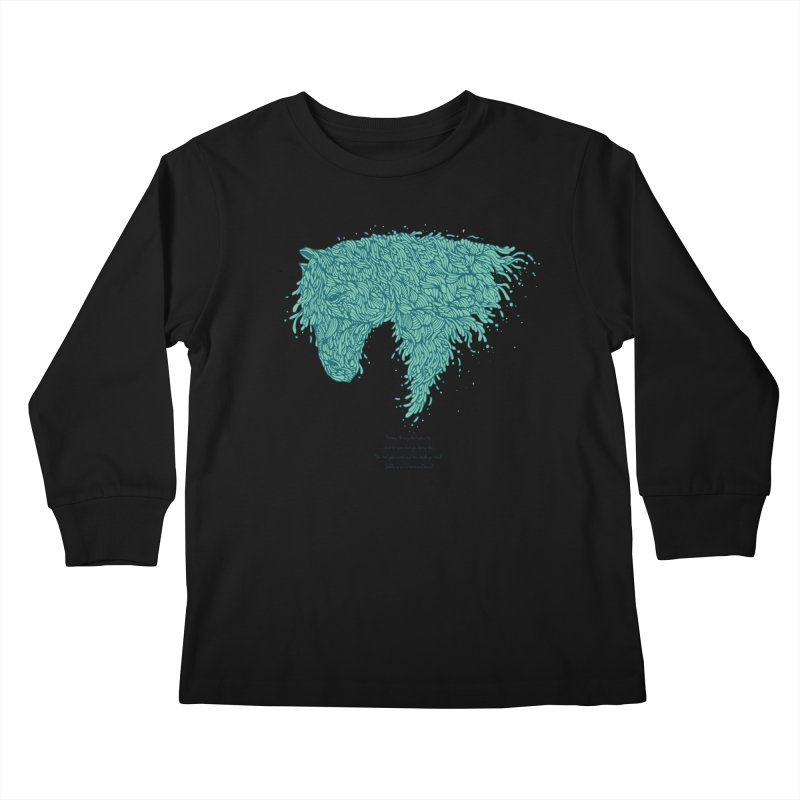 Horsey Kids Longsleeve T-Shirt by The Babybirds