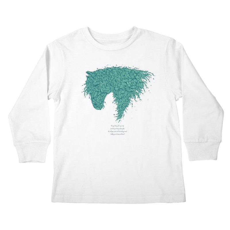 Horsey Kids Longsleeve T-Shirt by The Babybirds