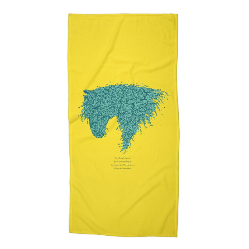 Horsey Accessories Beach Towel by The Babybirds