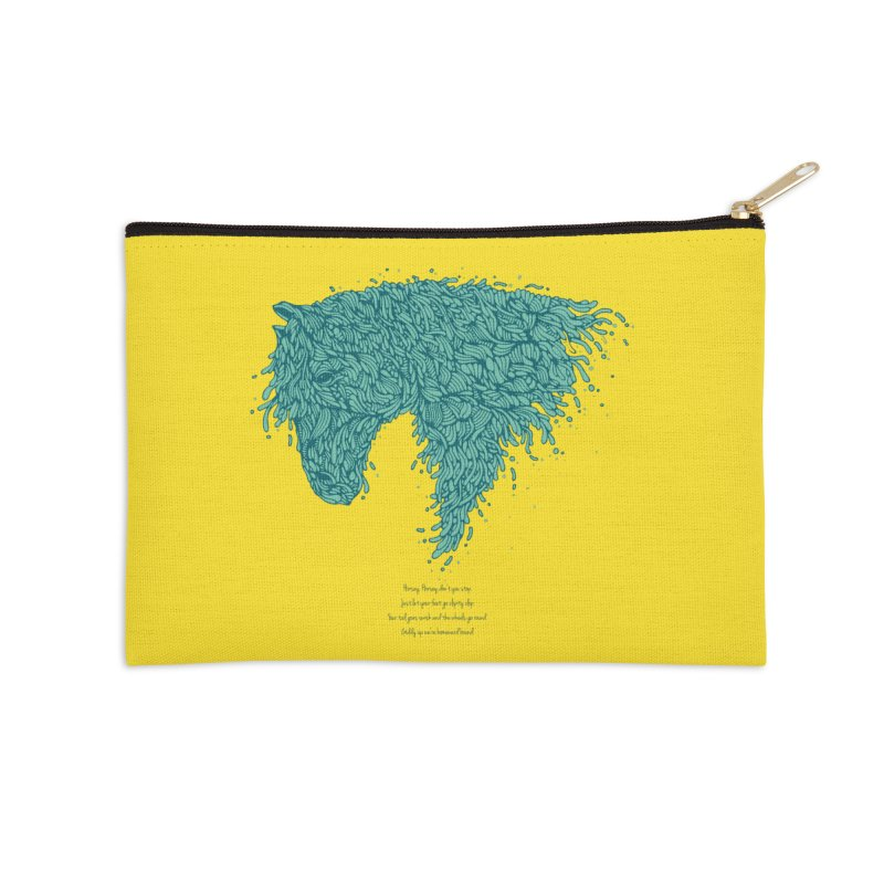 Horsey Accessories Zip Pouch by The Babybirds