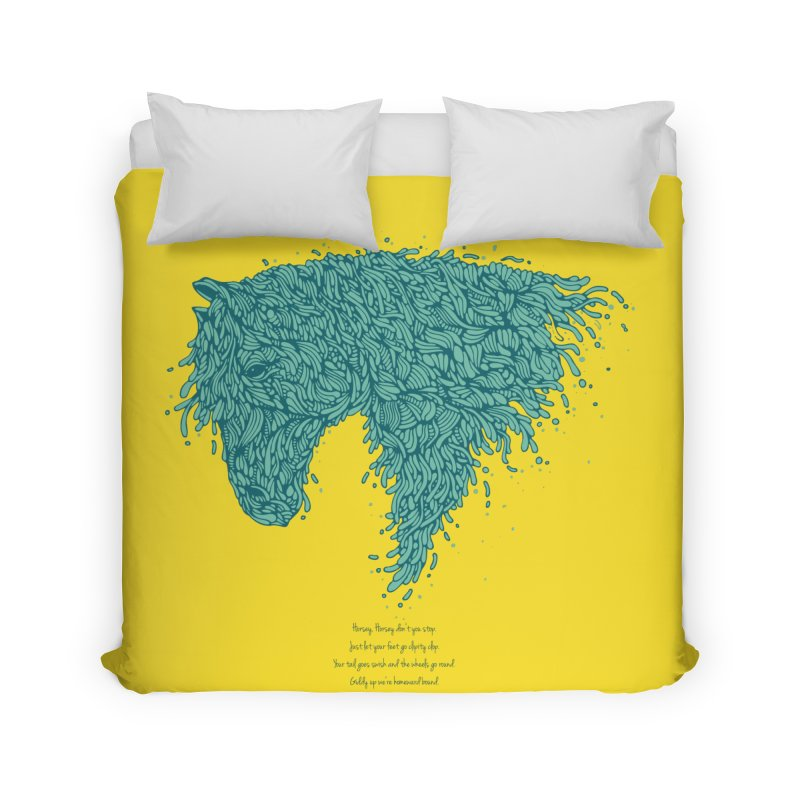 Horsey Home Duvet by The Babybirds