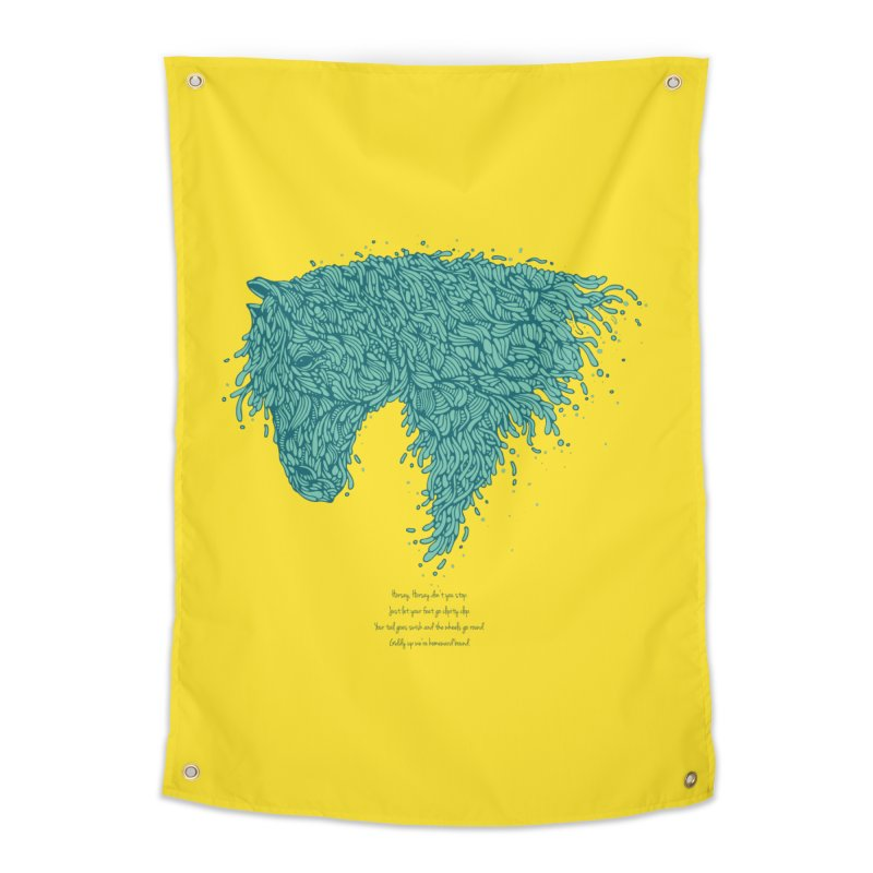 Horsey Home Tapestry by The Babybirds