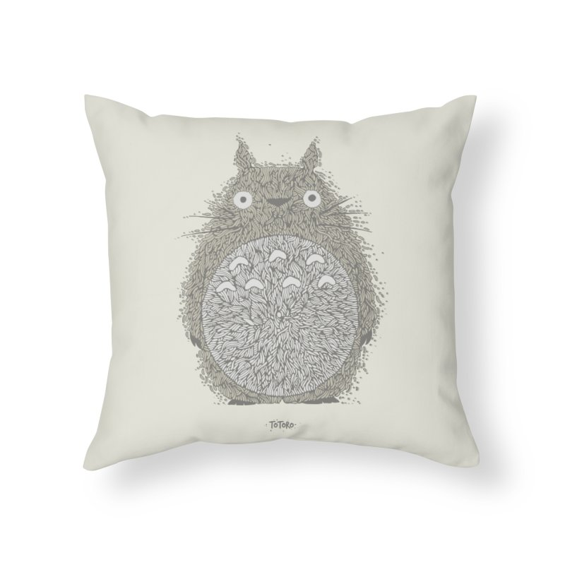 My Neighbour Home Throw Pillow by The Babybirds