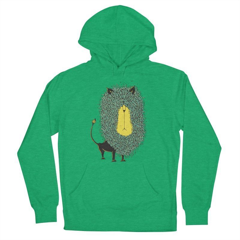 Afro Lion Men's French Terry Pullover Hoody by The Babybirds