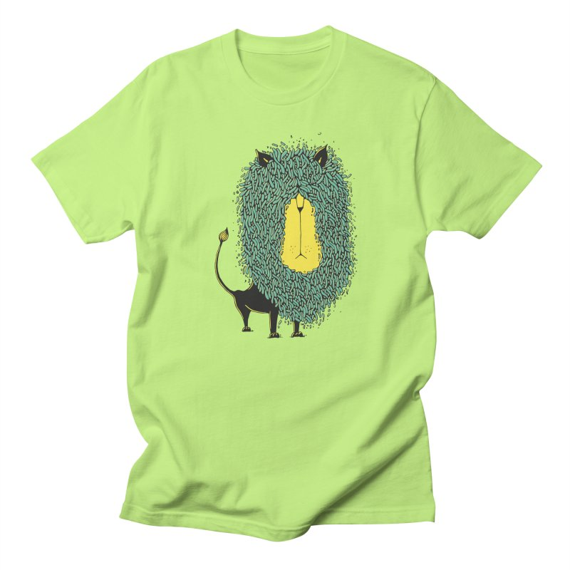 Afro Lion Men's T-Shirt by The Babybirds