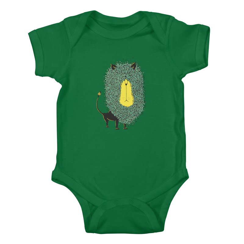 Afro Lion Kids Baby Bodysuit by The Babybirds