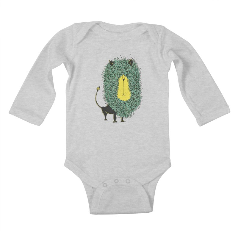 Afro Lion Kids Baby Longsleeve Bodysuit by The Babybirds