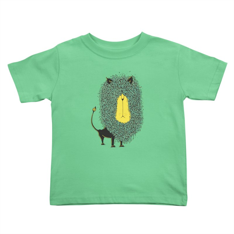 Afro Lion Kids Toddler T-Shirt by The Babybirds