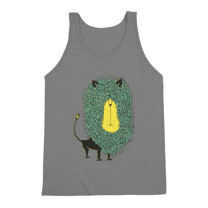 Afro Lion Men's Triblend Tank by The Babybirds