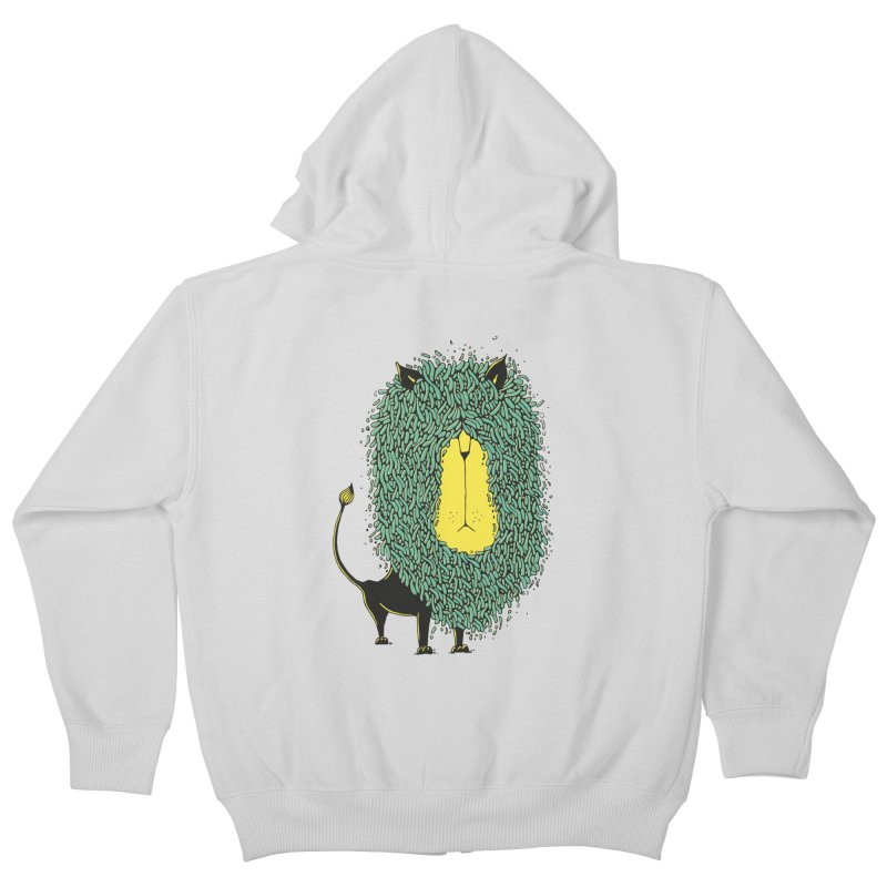 Afro Lion Kids Zip-Up Hoody by The Babybirds