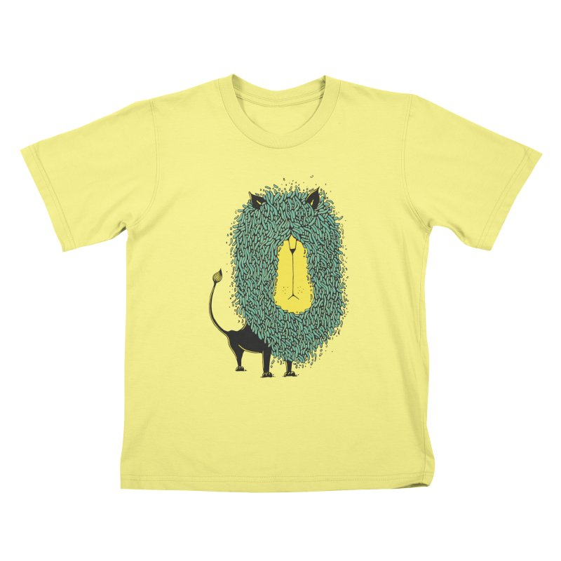 Afro Lion Kids T-shirt by The Babybirds