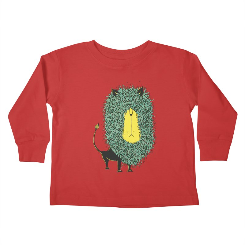 Afro Lion Kids Toddler Longsleeve T-Shirt by The Babybirds