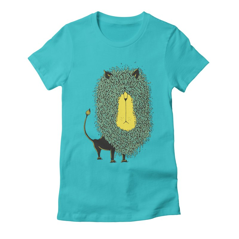 Afro Lion Women's Fitted T-Shirt by The Babybirds
