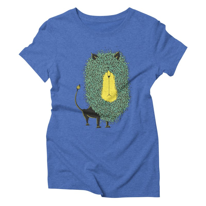 Afro Lion Women's Triblend T-Shirt by The Babybirds