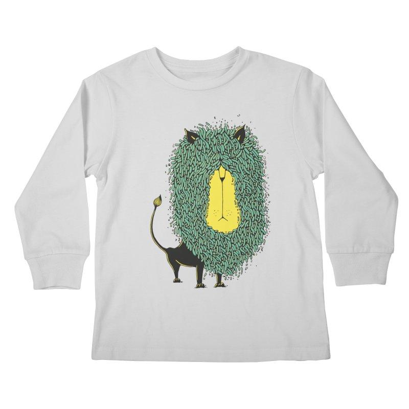 Afro Lion Kids Longsleeve T-Shirt by The Babybirds