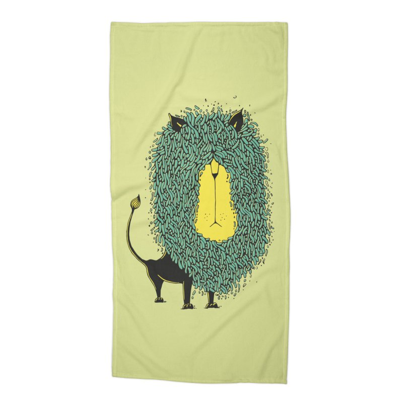 Afro Lion Accessories Beach Towel by The Babybirds
